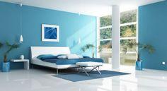 Mur bleu canard peinture bleue. déco bleue canard intérieur.