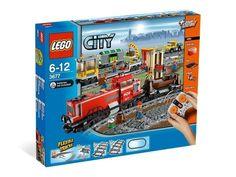 Lego 3677  - Lego City - Red Cargo Train   Rode Vrachttrein (1 of 7)