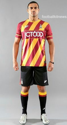 Bradford City Home Kit 16 17 Bradford City, Football Images, Football Kits, Soccer Shirts, Home And Away, How To Wear, Canvases, Presents, Tops