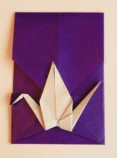 Origami Crane Envelope