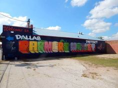 New Mural Helps You Find Dallas Farmers Market District (D Magazine article)