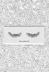 diamond studded false eyelashes
