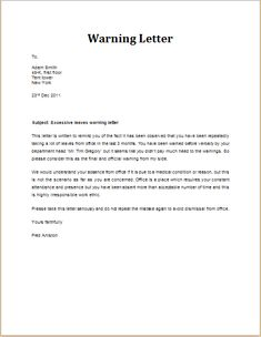 Bad performance warning letter download at httpwww warning letter to employee check more at httpsnationalgriefawarenessday12796 spiritdancerdesigns Image collections