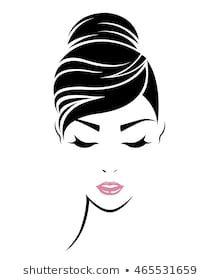 illustration of women hair style icon, logo women face on white background, vector Female Face Drawing, Female Art, Illustration Girl, Watercolor Illustration, Horse Clipping, Face Outline, Bottle Drawing, Logo Face, Girl Silhouette