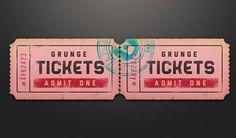 Ticket coupon sale tag PSD - Freebiesbug