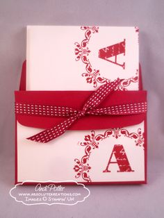Stampin' Up Personalized Notecards and Envelope Liner Box PLUS FREE Tutorial by Andi Potler