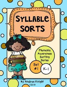 Syllable Sorts {Phonemic Awareness Sorting Series, Set #1}  $  #phonemicawareness  #syllables