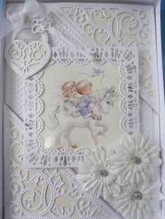 3 in 1 Victorian Square Die by Tattered Lace Dies. Card designed and submitted by Lyn Hawkins. For stockists please visit www.tatteredlace.co.uk