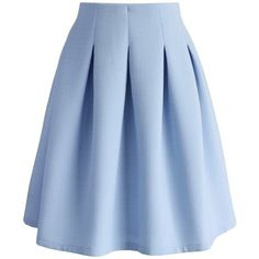 Chicwish Textured Stripe Airy Pleated Skirt in Baby Blue ($45) ❤ liked on Polyvore featuring skirts, bottoms, blue, stripe skirt, striped skirt, blue skirt, pleated skirt and knee length pleated skirt