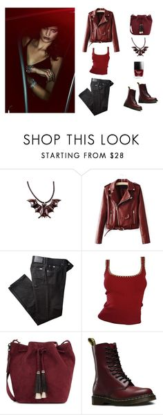 """Spooky cool"" by gatewayalpha ❤ liked on Polyvore featuring BRAX, Michael Kors, Loeffler Randall and Dr. Martens"