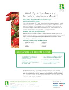 Food Industry Readiness Monitor (FIRM) Flyer by 1WorldSync via slideshare