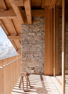 Exposed / natural stone, juxtaposed to the timber is just a beautiful combination.