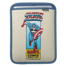 Captain America Retro Comic Character iPad Sleeve