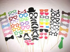Photo Booth Props   Ultimate Party 62  piece set  by TheManicMoose, $100.00