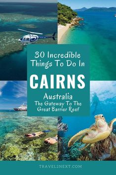 30 Things to do in Cairns the gateway to the Great Barrier Reef in Queensland Australia. From snorkelling or diving the reef to soaring above the tropical rainforest there are so many things to do in Cairns to tick off your bucket list. Cairns Australia, Visit Australia, Cairns Queensland, Australia Honeymoon, Western Australia, Australia Facts, Australia Trip, Coast Australia, Melbourne Australia