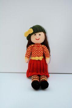 An Autumn Doll - Knitting Pattern - PDF E-mail £3.60