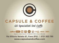 Vieni a trovarci ! Capsule & Coffee Fano Gli specialisti del caffè  #capsule #cialde #caffè #grani #macinato #compatibili #originali #nescafè #dolcegusto #lavazza #nespresso #illy #bialetti #borbone #mustespresso #caffitaly e tanto ancora..