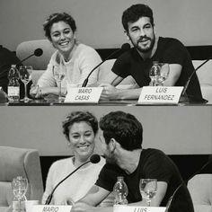 Mario Casas & Blanca Suárez Spanish Men, Hot Guys, Hot Men, Pretty Face, Famous People, Fangirl, Crushes, Fandoms, My Love