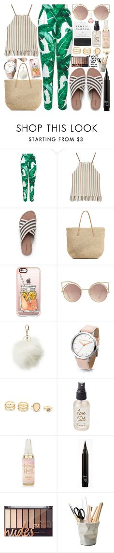 """""""60-Second Style: Summer Camp"""" by natallie ❤ liked on Polyvore featuring Dolce&Gabbana, Miguelina, Lands' End, Merona, Casetify, MANGO, Charlotte Russe, LULUS, Herbivore and Olivine"""