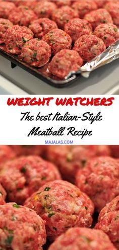 Weight watchers Meatball Recipe // Source by Weight Watchers Desserts, Weight Watchers Meatball Recipe, Weight Watcher Dinners, Healthy Recipes, Skinny Recipes, Meat Recipes, Cooking Recipes, Recipes Dinner, Meatloaf Recipes