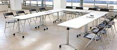 Mesa de Reunión Blanca Moderna