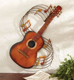 #Guitar Music Notes Decorative Wall Art.