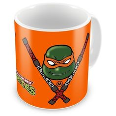Caneca Porcelana Tartarugas Ninja Michelangelo