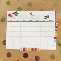 Cute printable calendar will liven up your day and life!
