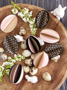 Ostern rückt mit großen Schritten näher und wir haben noch ein paar hübsche Bastelideen für sie in der Farbkombination Braun und Rosa. Einfach traumhaft!