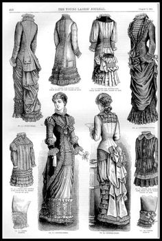 1881 Vintage Fashion Plates - The Young Ladies Journal No.27