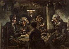 """This has always been my favorite van Gogh painting for some reason - """"The Potato Eaters"""""""