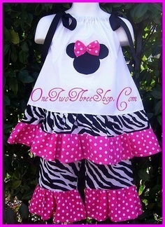 Custom Boutique Minnie Mouse Pillowcase Pink Set 12 Months to 6 Years