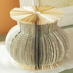 Book Binding Vase and other book craft ideas at this link