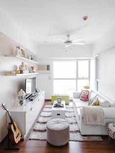 A Look Inside the Charming Home of a Real Living Reader Condo Interior Design, Condo Design, House Design, Small Condo Living, Studio Apartment, Apartment Ideas, Inside Home, Condo Decorating, Small Apartments