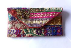 Hippie Patchwork ETHNIC CLUTCH BAG/ tribal style by iThinkFashion