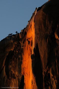 """Yosemite National Park, Ca  """" Fire Fall""""  The fire fall activity ceases to exist in Yosemite Nat. Park."""