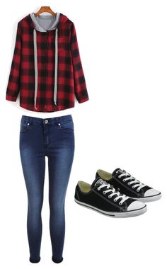 """""""Untitled #4"""" by ellebelle102 on Polyvore featuring Miss Selfridge and Converse"""