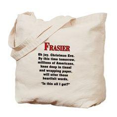 Frasier Christmas Quote Tote Bag $14.49