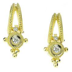 Stambolian Diamond Gold Earrings 1