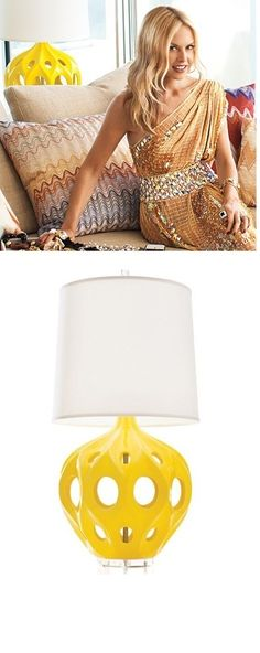 InStyle-Decor.com Hot in Hollywood Fashion Designer Rachel Zoes Yellow French Lamp Available @ $495  Enjoy More Yellow Home Décor Inspirations Check Out Our On Line Store for Over 3,500 Luxury Designer Furniture, Lighting, Decor & Gift Inspirations, Nationwide & International Shipping From Beverly Hills California Enjoy Whats Trending in Hollywood