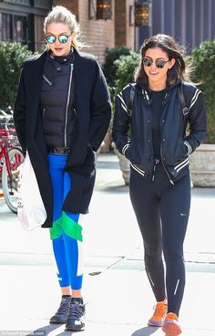 Smiling again: Gigi Hadid took a stroll with a pal in New York on Wednesday and managed to raise a smile after a tricky few days regarding a video that arose purporting to show her snorting cocaine