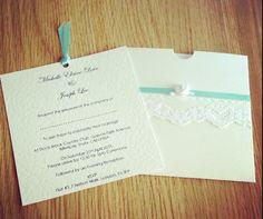 Wallet invitations <3 #TiffanyBlue#Wedding#Invitation
