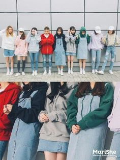 Check Out These Great korean street fashion 7975 Fashion Group, Pop Fashion, Girl Fashion, Winter Fashion, Fashion Outfits, Fashion Design, Fashion Hacks, Fashion Ideas, Korean Fashion Trends