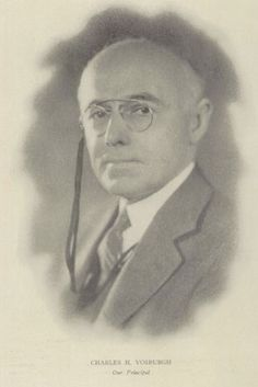 The Principal of Jamaica High School in 1925, Charles H. Vosburgh.  #1925 #Jamaica #Principal #CharlesVosburgh #yearbook