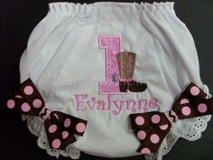 Custom Bloomers...COWGIRL BLOOMERS, any color...any theme...diaper cover..dress up..birthday bloomers, first birthday