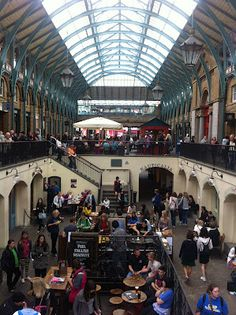 Covent Garden...where I love eating jacket potatoes and people watching...