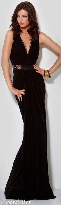 JOVANI - Authentic Designer Dress - Sleek Full Length Gown