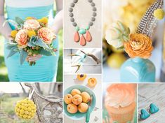 A turquoise, peach, and yellow wedding inspiration board with floral invitations to match. Wedding Stage Decorations, Wedding Themes, Wedding Colors, Our Wedding, Wedding Ideas, Wedding Planning, Indian Wedding Receptions, Wedding Mandap, Funny Wedding Invitations