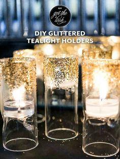 Glitter Tea Light Holders