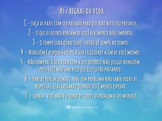 As 7 regras da vida
